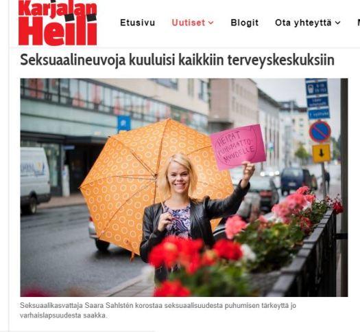 saara sahlsten seksuaalineuvoja seksuaalikasvattaja karjalan heili 1.9.2018