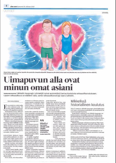 Saara Sahlsten seksuaalikasvatus koulutus Mikkeli Länsi-Savo